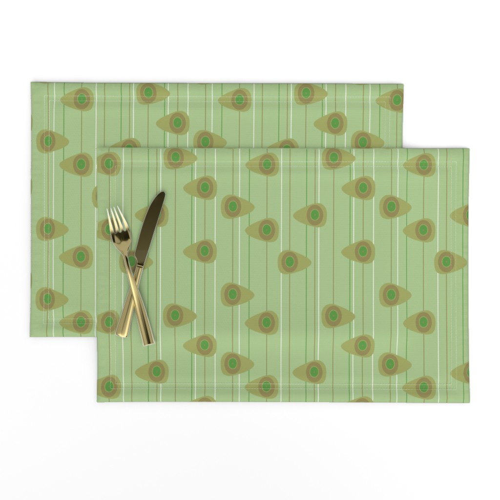 Lamona Cloth Placemats featuring Cell-ular Lounge - green by designergal