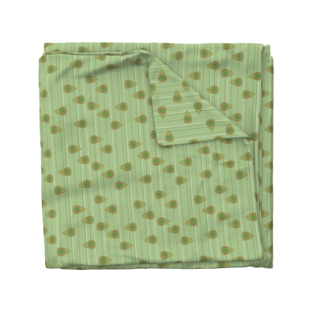 Wyandotte Duvet Cover featuring Cell-ular Lounge - green by designergal