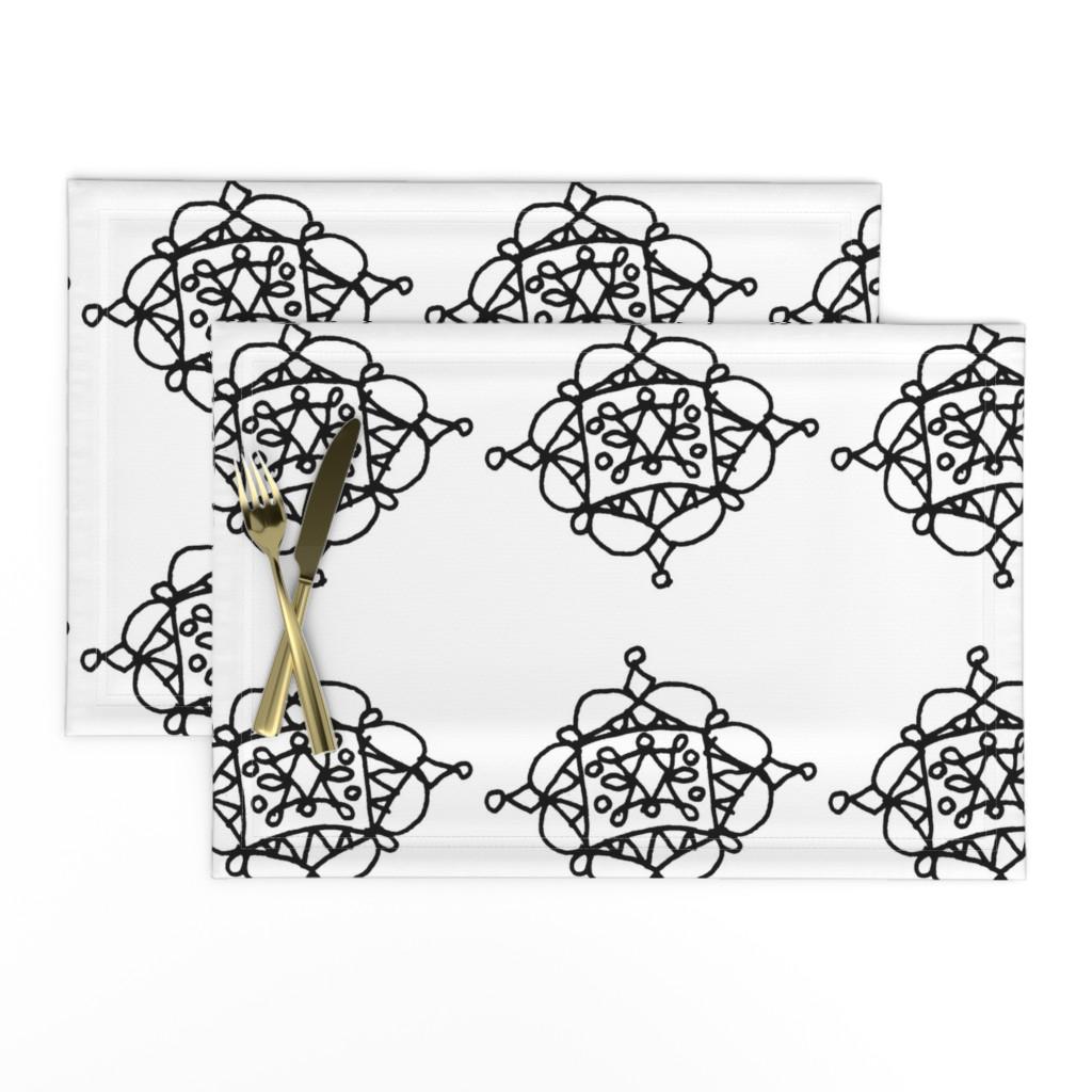 Lamona Cloth Placemats featuring Mystic Shape - Big by designergal
