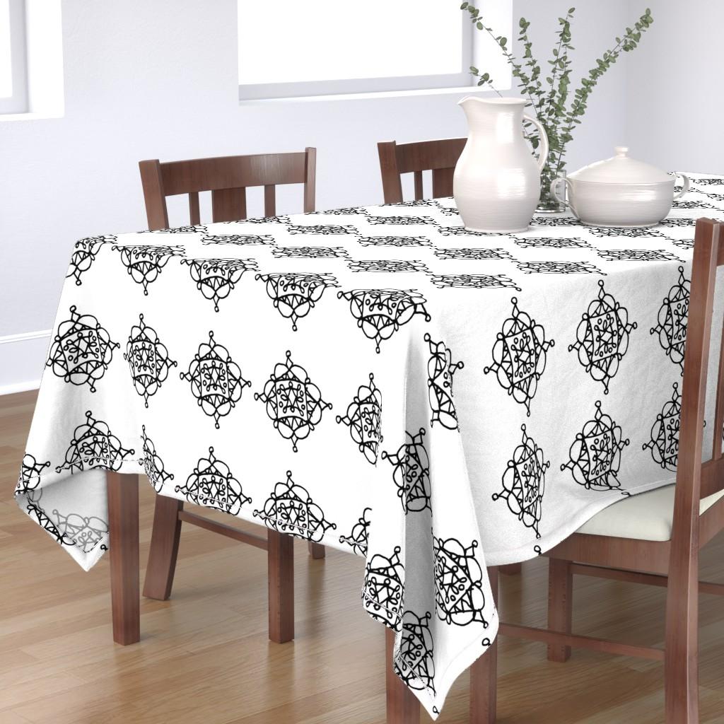 Bantam Rectangular Tablecloth featuring Mystic Shape - Big by designergal