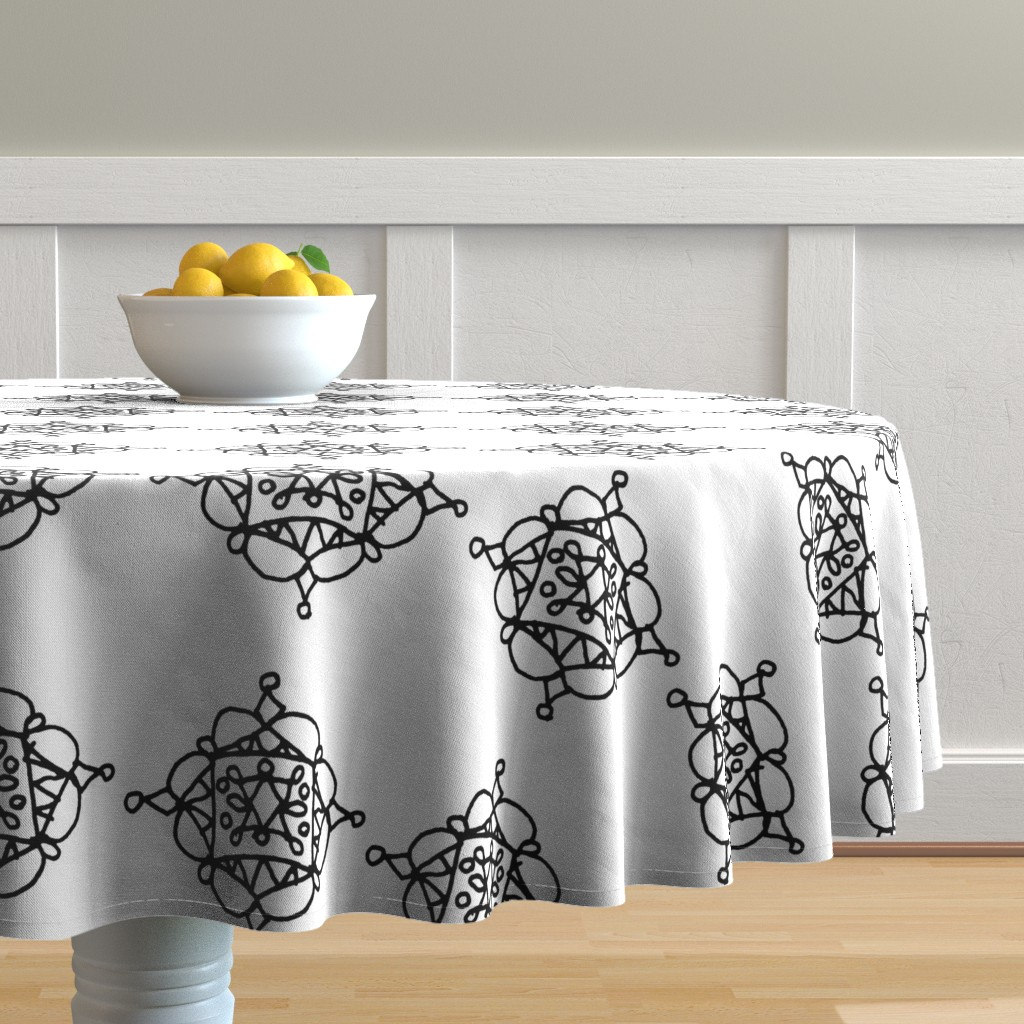 Malay Round Tablecloth featuring Mystic Shape - Big by designergal
