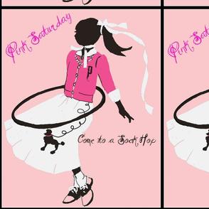 Pink Saturday, Poodle Skirts and Hoola Hoops-ed