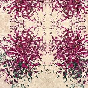 6 petal pink flower a1