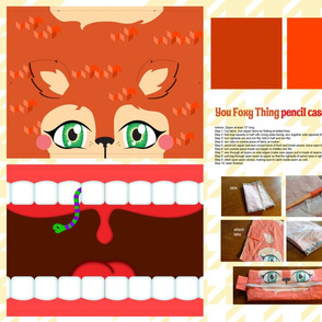 You Foxy Thing pencil case