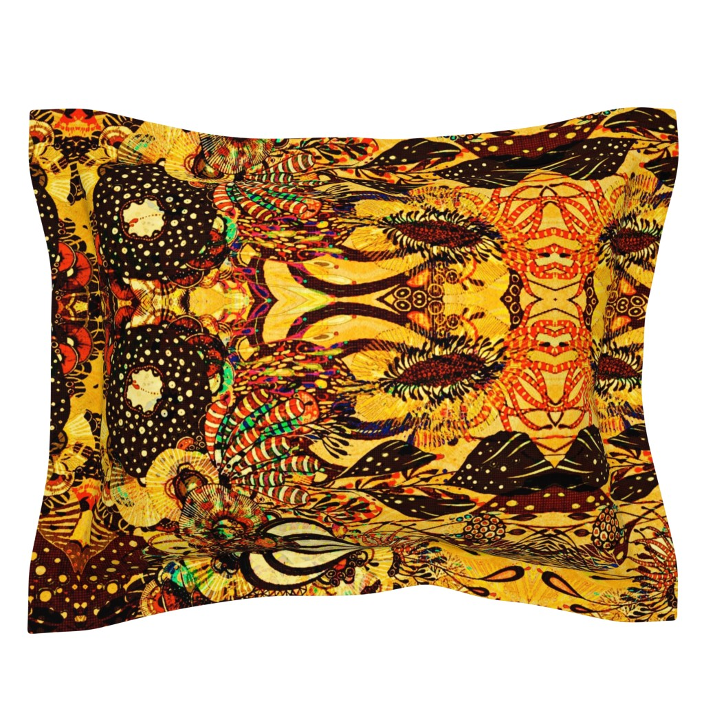 Sebright Pillow Sham featuring Coral Reef by whimzwhirled
