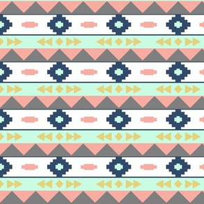 Colored aztec rows 2