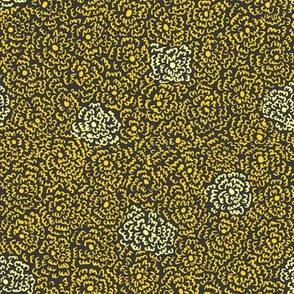 Firefly Flowers | Gold on Charcoal