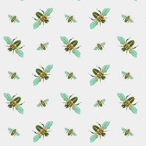 pretty green bees