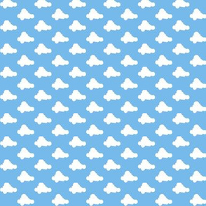 Clouds to the Max || pop art spring summer baby nursery children kids retro sky