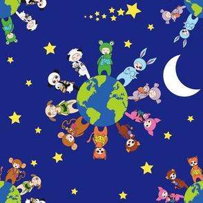Babywearing Animals - stars and moon