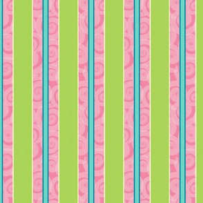 Pink and Lime Stripe