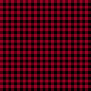 sable and crimson gingham