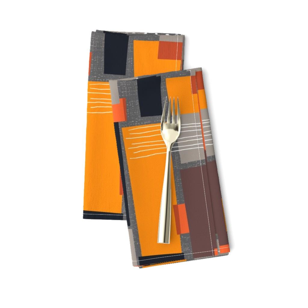 Amarela Dinner Napkins featuring Marks and Color Blocks /04 by elizabeth_hale_design