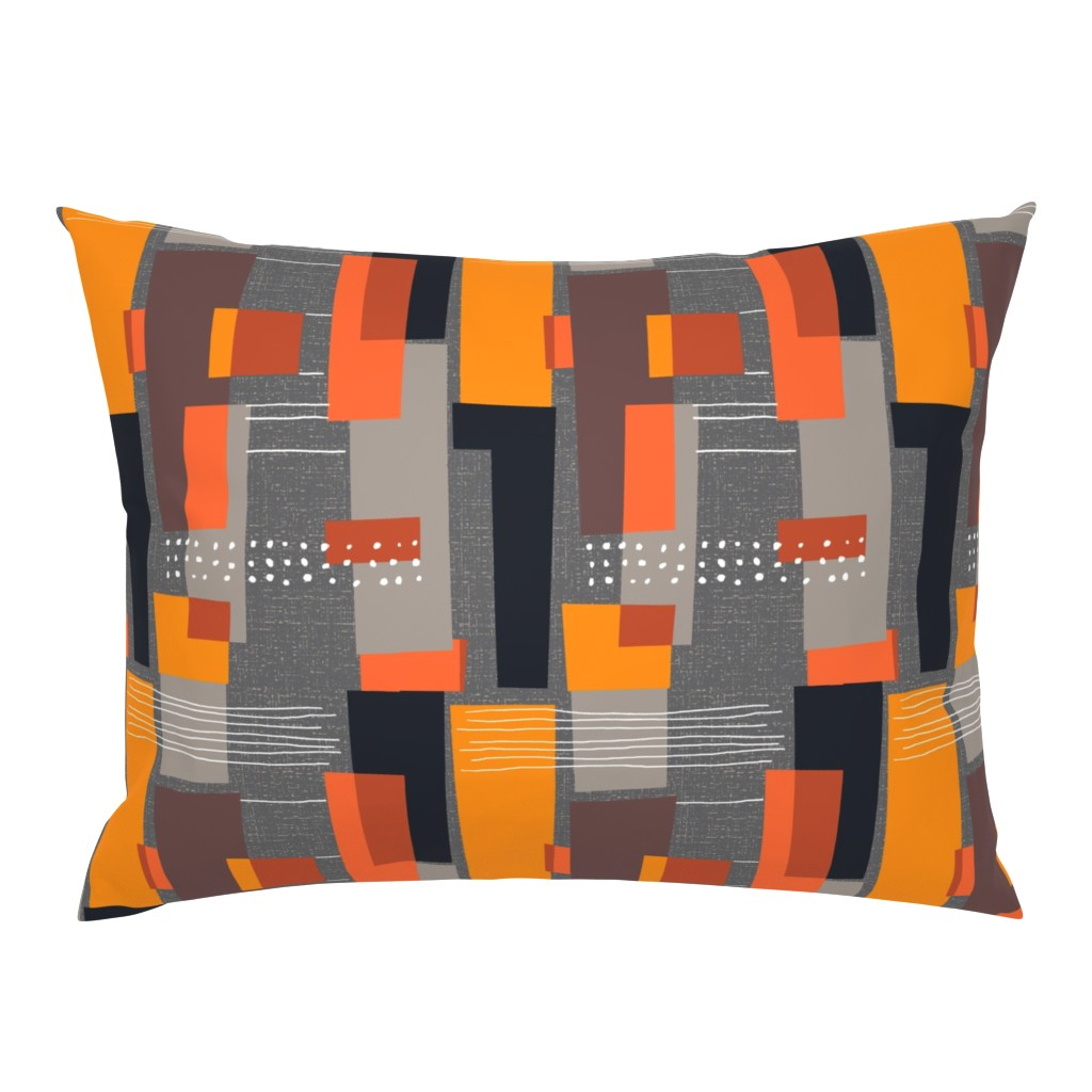 Campine Pillow Sham featuring Marks and Color Blocks /04 by elizabeth_hale_design