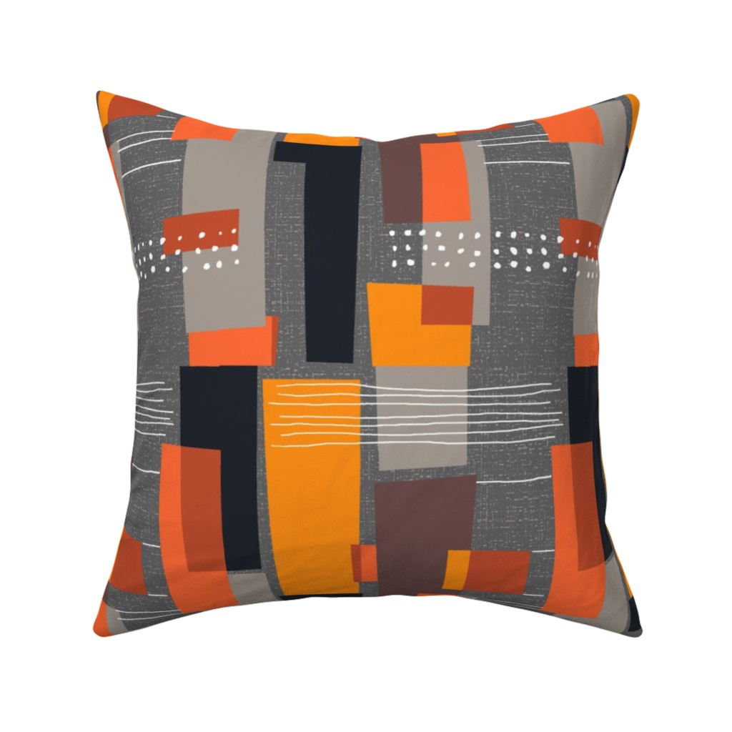 Catalan Throw Pillow featuring Marks and Color Blocks /04 by elizabeth_hale_design