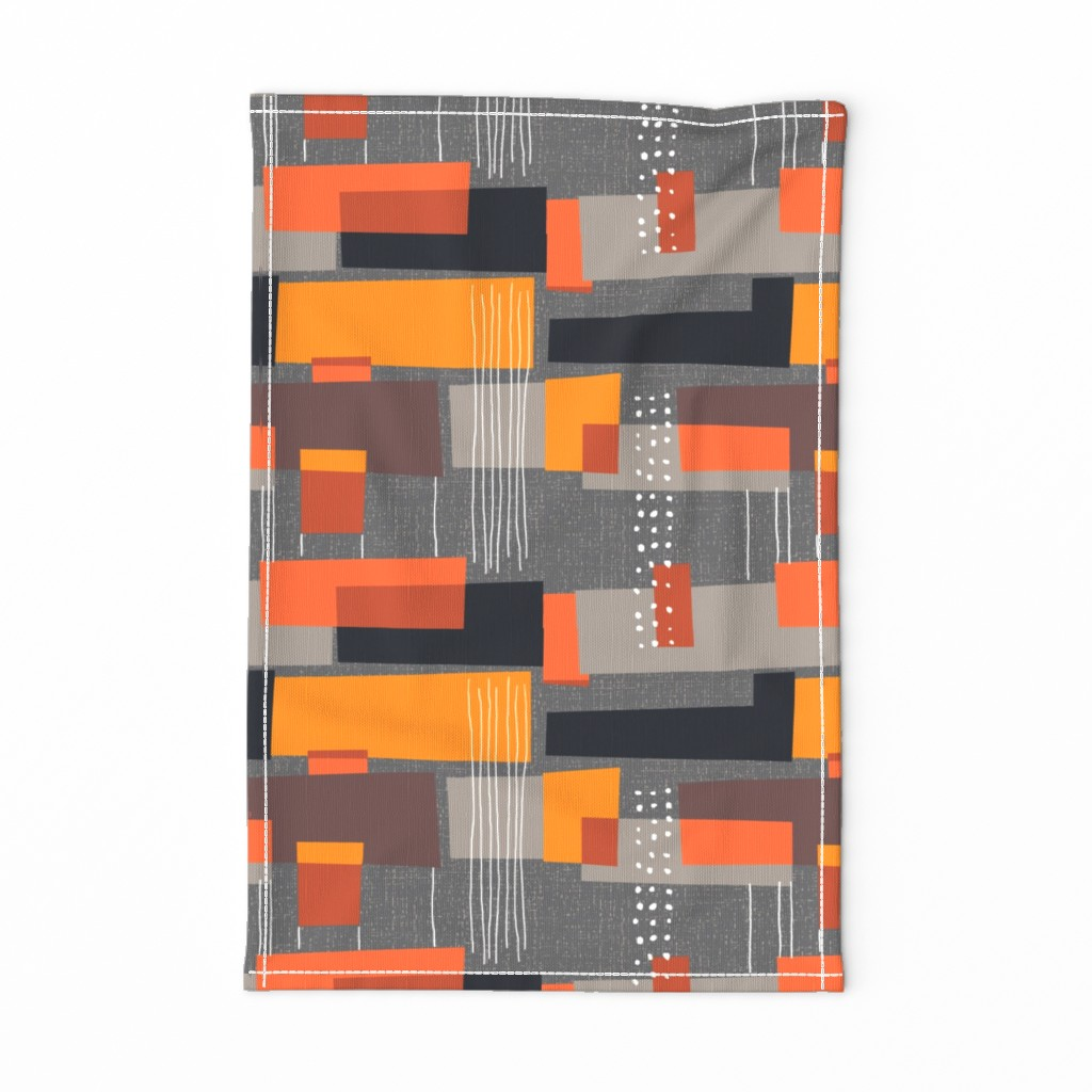 Special Edition Spoonflower Tea Towel featuring Marks and Color Blocks /04 by elizabeth_hale_design