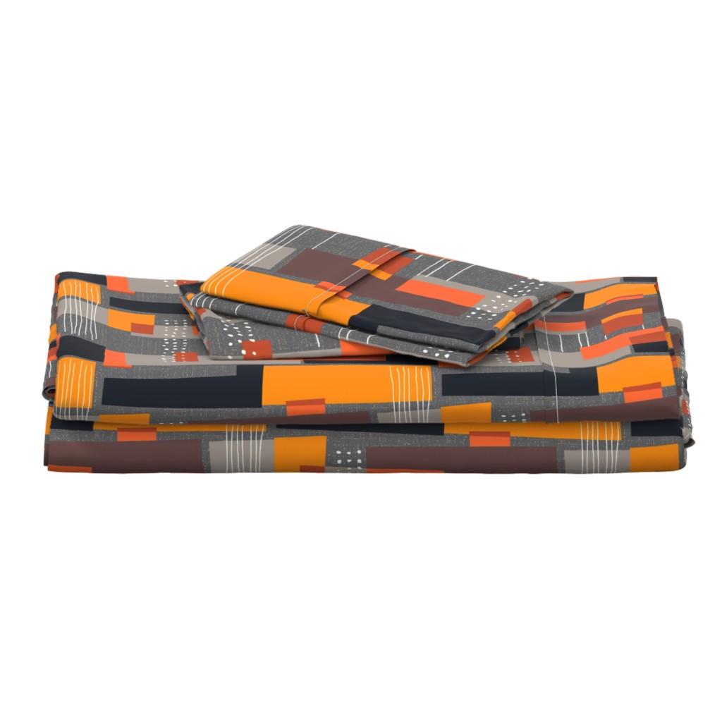 Langshan Full Bed Set featuring Marks and Color Blocks /04 by elizabeth_hale_design