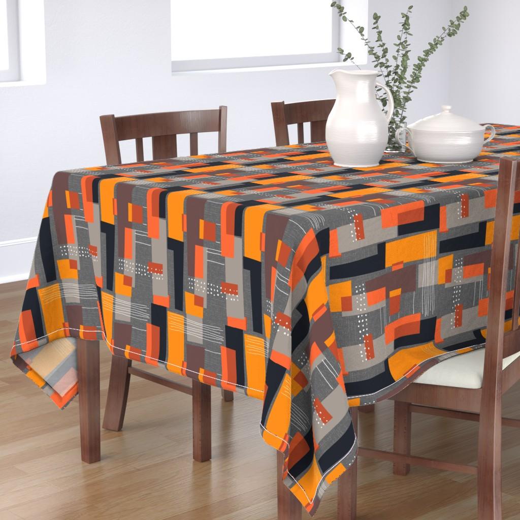 Bantam Rectangular Tablecloth featuring Marks and Color Blocks /04 by elizabeth_hale_design
