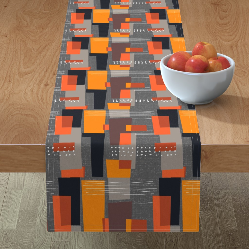 Minorca Table Runner featuring Marks and Color Blocks /04 by elizabeth_hale_design