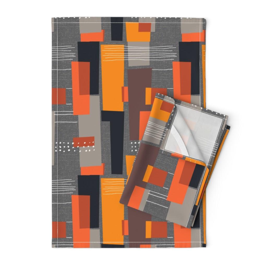 Orpington Tea Towels featuring Marks and Color Blocks /04 by elizabeth_hale_design
