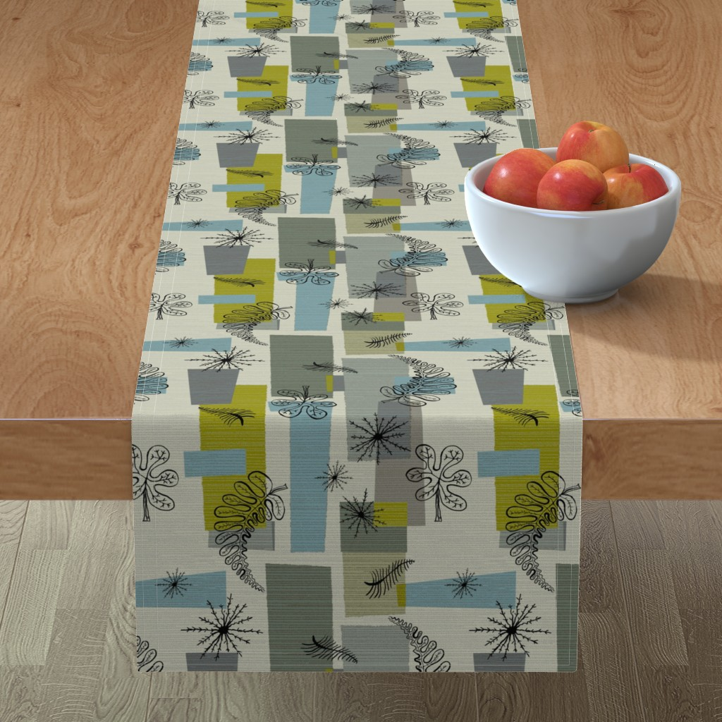 Minorca Table Runner featuring 50s Floral /01 by elizabeth_hale_design