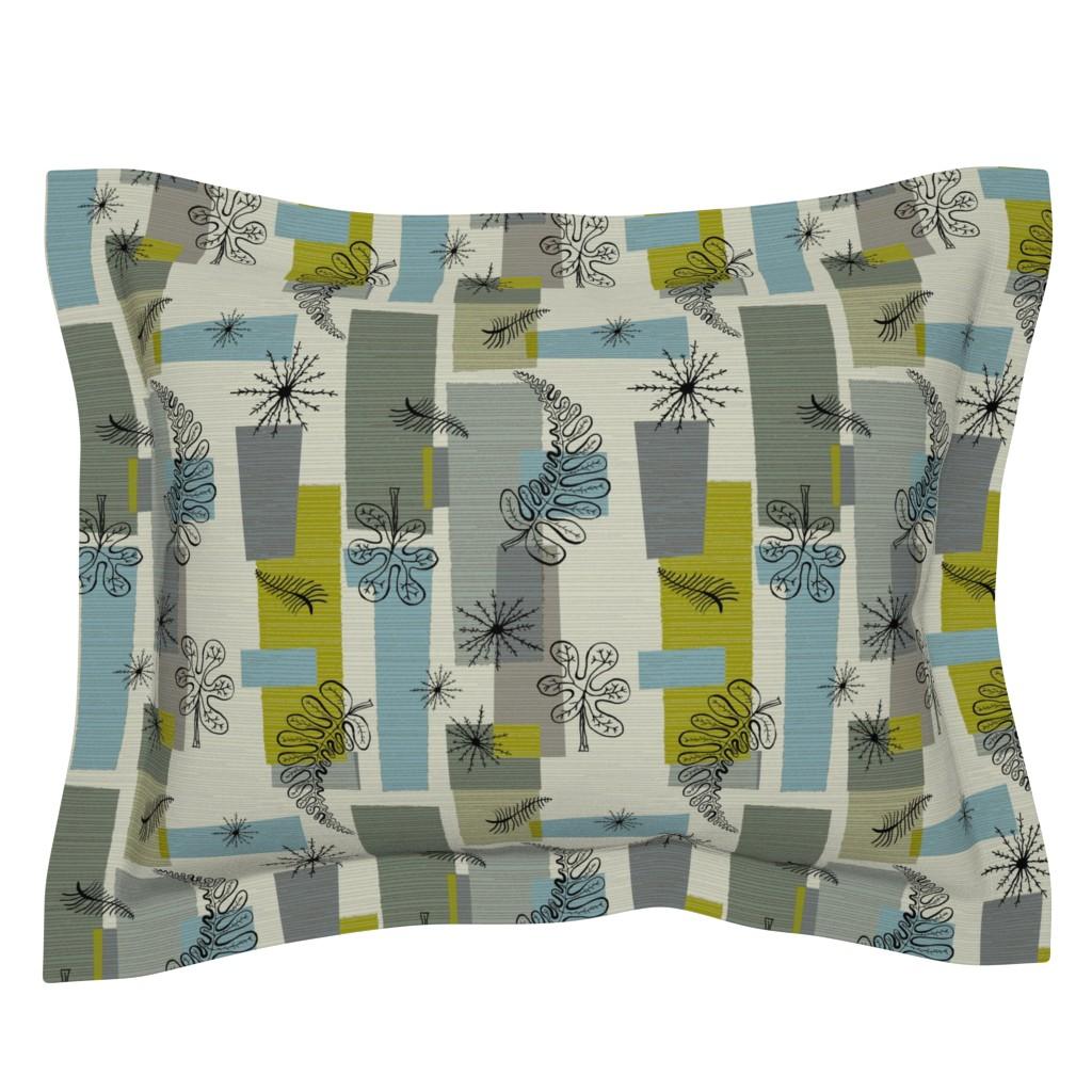 Sebright Pillow Sham featuring 50s Floral /01 by elizabeth_hale_design