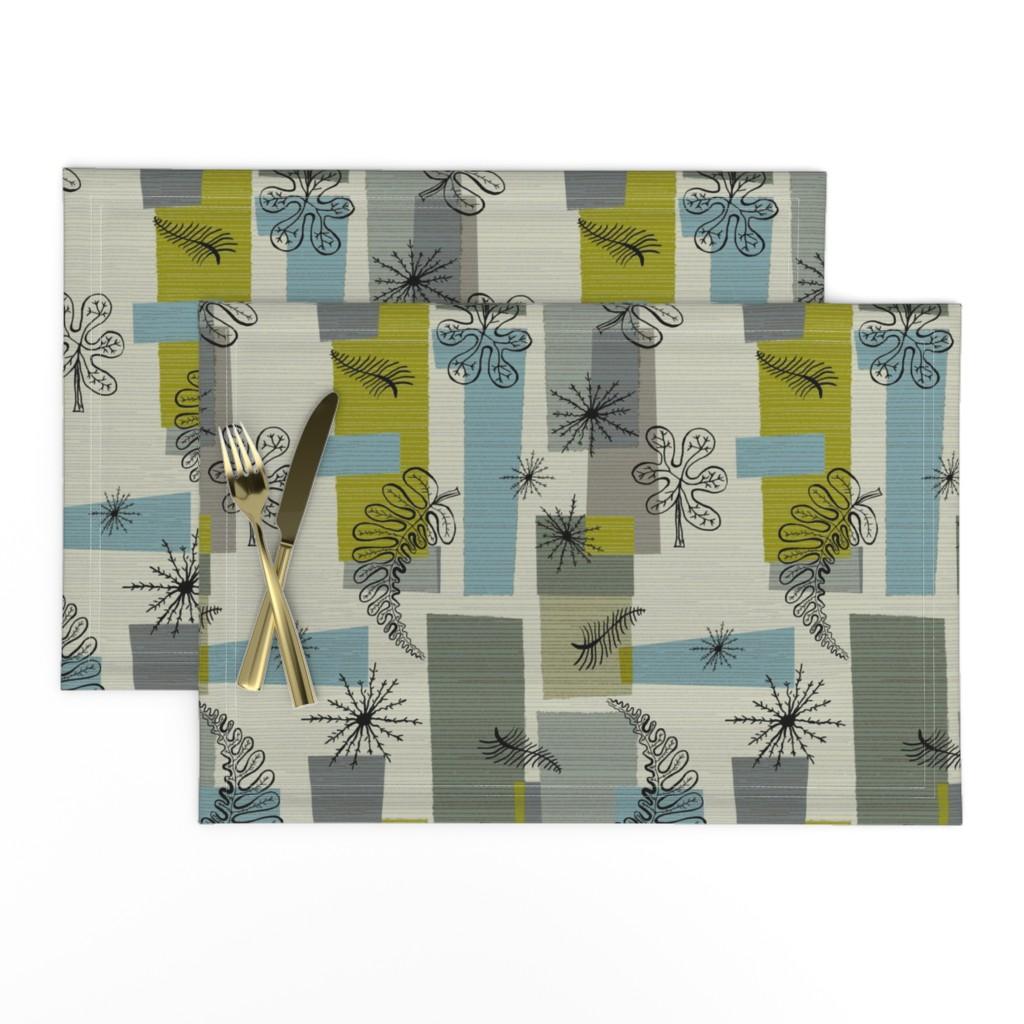 Lamona Cloth Placemats featuring 50s Floral /01 by elizabeth_hale_design
