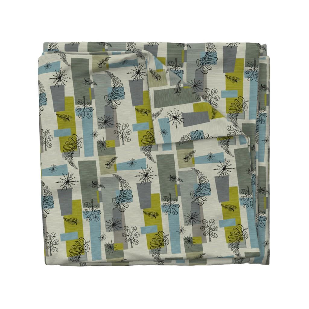 Wyandotte Duvet Cover featuring 50s Floral /01 by elizabeth_hale_design