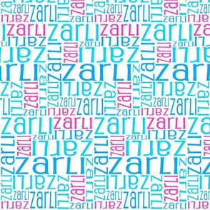Personalised Name Fabric - Pink, Aqua, Blue