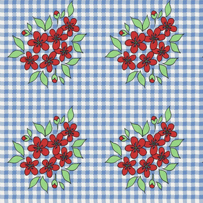 red_flowers_on_blue_gingham