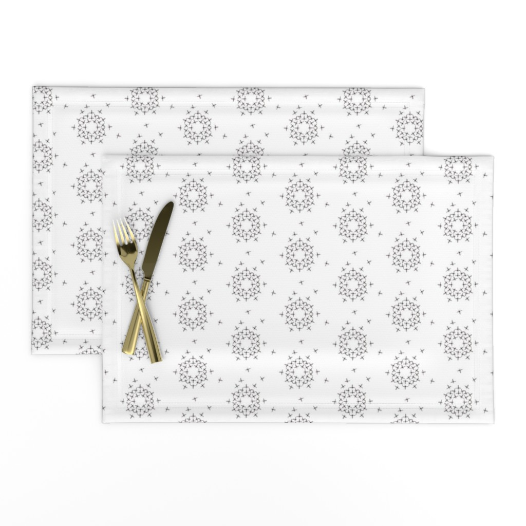Lamona Cloth Placemats featuring Snow Bees by alicefrenz