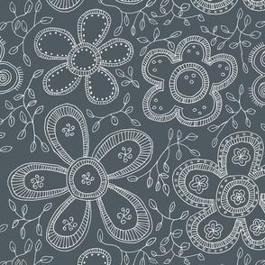 Gray fashion flowers