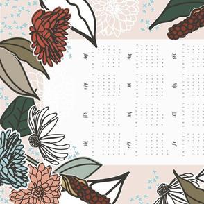 2020 Farmhouse Floral Tea Towel