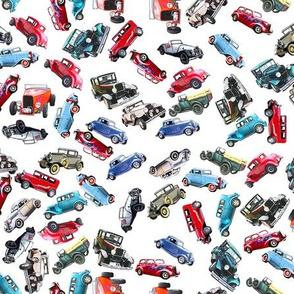 Ditsy vintage cars- tiny 2