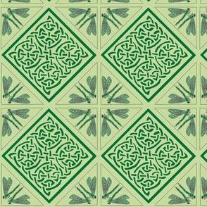 dragonfly corner knot tile