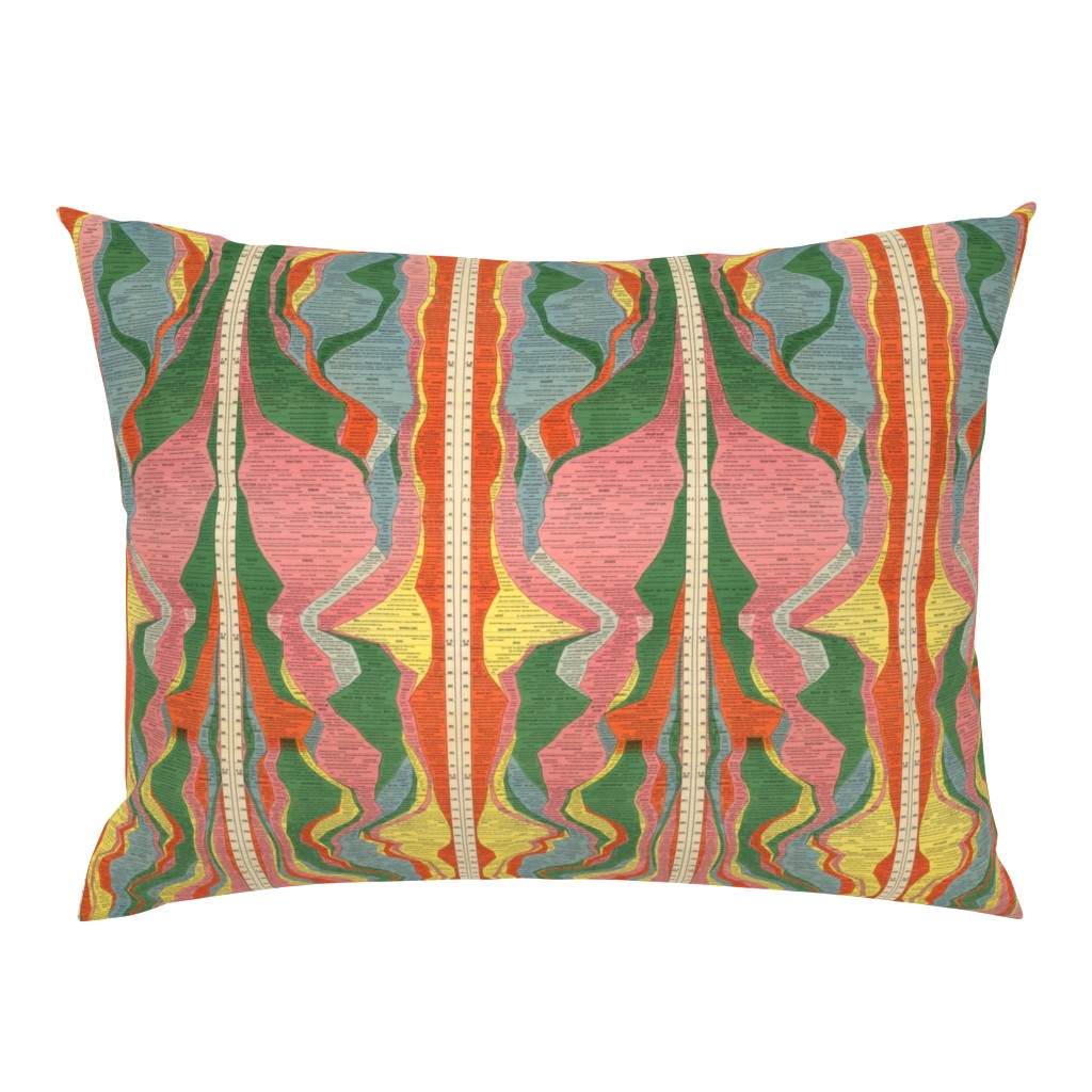 Campine Pillow Sham featuring The 1931 Histomap by saraicapael