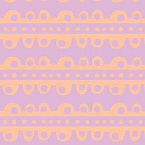 Bumpy Stripe Wide (lilac, tangerine)sm