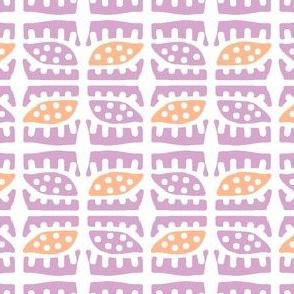 Dotty Spiky Pod 2 (lilac, tangerine)
