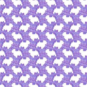 Terrier tie dye - purple