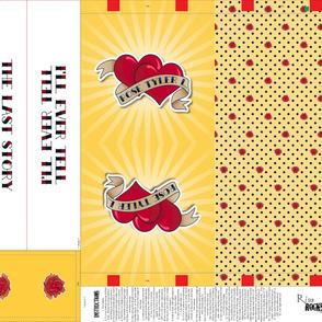 Twin Hearts Tattoo Tote Bag