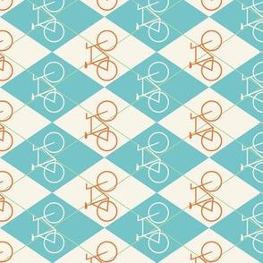 Aqua and Orange Bike Argyle
