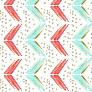 arrow chevron in blue and pink Vertical