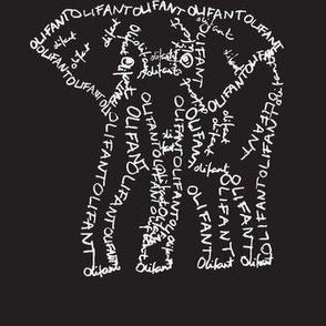Olifant Calligram 2