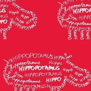 Hippo Calligram