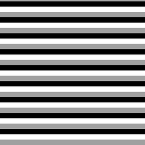 Stripes - Classic Black White Grey {re-sizable}