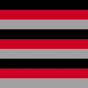 Stripes - Black Red Grey Nautical {resizable}