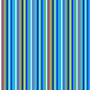 Blue Clown Stripe