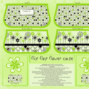 cut and sew flip flop flower case