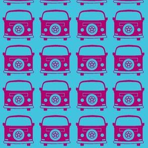 camper pink blue