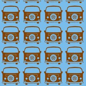 camper brown blue